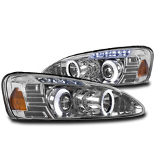 2004-2008 PONTIAC GRAND PRIX DUAL HALO LED CHROME PROJECTOR HEADLIGHTS LAMP SET