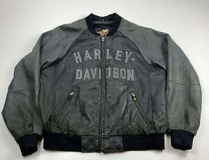 Harley-Davidson Jacket Motorcycle 100th Year Anniversary Leather Bomber XL
