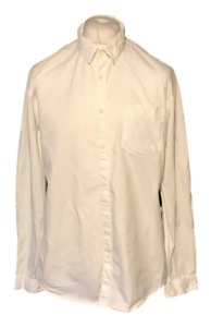 Jack & Jones Men's Cloud Dancer White Shirt Extra Large XL Marks