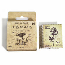 46pcs/SET Vintage Stamp Stickers Stationery Scrapbooking Diary Stickers