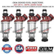 4/UNIT OEM DENSO Fuel Injectors For Toyota Celica/Corolla/GEO Prizm #23250-16160