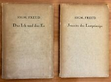 Sigmund Freud 2  antiquarian 1923 books First Editions Original German