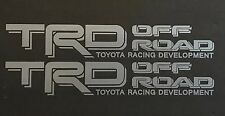 SILVER TOYOTA TRD TRUCK OFF ROAD 4x4 TOYOTA RACING TACOMA DECAL VINYL STICKER