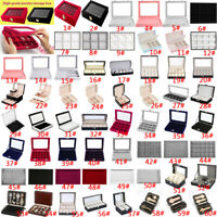 2-24 Grids Watch Ring Earring Jewelry Display Organizer Tray Holder Storage Case