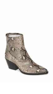 NEW Dolce Vita Shanta Pointed Toe Snake Vegan Boot Size 7 Exposed Zip Ankle
