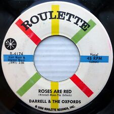 DARRELL & Oxfords 45 PICTURE IN MY WALLET vg++ b/w ROSES ARE RED strong VG+ fm15