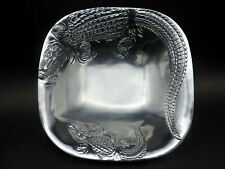 "2002 Arthur Court Alligator 10"" Square Bowl"
