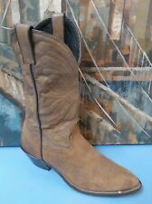 Laredo Womens Size 8.5 M Brown Metal Tipped Western Cowboy Boots