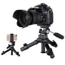 Mini DSLR Camera Tripod Tabletop Stand Smartphone Holder Clip For Live Streaming