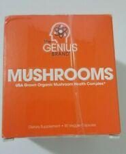 New Taped Sealed Genius Brand Genius Mushrooms 90 Veggie Capsules Exp 3/21