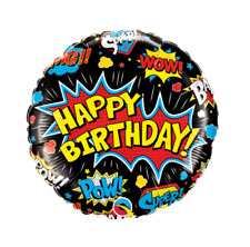 Party Supplies Birthday Retro Batman Boys Super Hero 45cm Black Foil Balloon