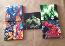 5th Set Of These 5 Marvel & DC Super Hero Canvas Pictures