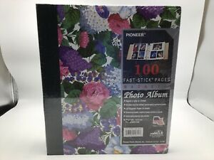 Pioneer Photo Album Magnetic Floral Magnetic 3 Ring Binder 100 Pages New
