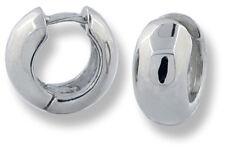 Tiny Huggies Style Round Hinged Baby Hoop Earrings 10k White Gold 12mm