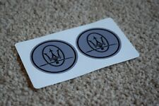 MASERATI Tridente Logo Badge Car Racing Tuning Decal Stickers Rounded Grey 50mm
