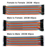 40 pcs Dupont Cables M-F, M-M, F-F Jumper Breadboard Wire GPIO Ribbon Pi Arduino