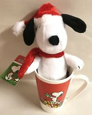 Peanuts Snoopy Santa Christmas Mug Plush Holiday Cup Gift New