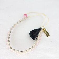 ISABEL MARANT MODA DA DONNA ACCESSORI Bracciale perle in vetro rosa NP 79 NUOVO