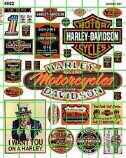 4002 DAVE'S SCALE DECALS AMERICAN MOTORCYCLE BUILDING ADVERTISING SIGNAGE