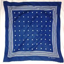 Vintage  90s Blue Dots Scarf 100% Cotton