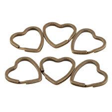 Split Heart Rings Diy Jewelry Accessories 60pcs Bronze Key Rings Key Chain