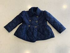 Ralph Lauren Jacadi Quilted Down Jacket Navy Blue Size 2/2T