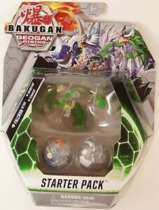 BAKUGAN GEOGAN RISING Starter Pack DIAMOND FALCRON SHARKTAR FENNECA 2021 In Hand