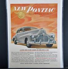 Car Ad Vintage Automobile Auto SEP Pontiac 1946 Silver Streak  Centerfold Sedan
