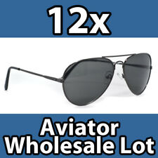 12 ASSORTED AVIATOR SUNGLASSES WHOLESALE LOT CLEARANCE!
