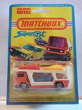 MATCHBOX  CAR TRANSPORTER BEDFORD TRANSPORT VOITURE 11 MIB NEUF BOITE SUPER FAST