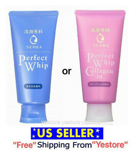 SHISEIDO Senka Perfect Whip Face Wash Cleaning Foam Collagen Cleanser 120g US se