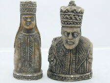 2 UNUSUAL EARLY STYLE FIGURES - POSSIBLY CHESS PIECES - L@@K - INFO WELCOME RARE