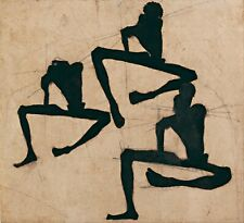 Egon Schiele Composition With Three Male Nudes 9x8 inch Print