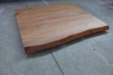 Tischplatte Platte Ulme Rüster Massiv Holz mit Baumkante Tisch Brett Leimholz