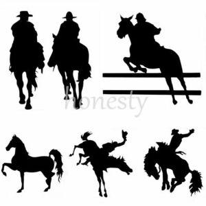 Horse Cowboys Print Car Laptop Window Wall Bumper Vinyl Decal Sticker Gift