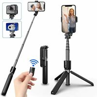 Bluetooth Selfie Stick Tripod Extendable Aluminum Stand Wireless Remote 360° Rot