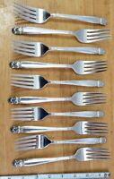 LOT OF 10 HOLMES & EDWARDS VINTAGE 1938 DANISH PRINCESS SILVERPLATE DINNER FORKS
