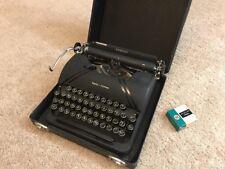 Vintage Smith-Corona Sterling Typewriter w/ Carry Case Glass keys