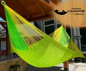 Ingalex waterproof Double size Mexican Rope Nylon Handmade Hammock The best Gift