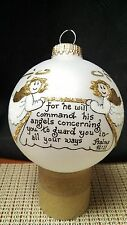 For he will command a Heart Gift ornament by Teresa Thibault (Hand painted) in U