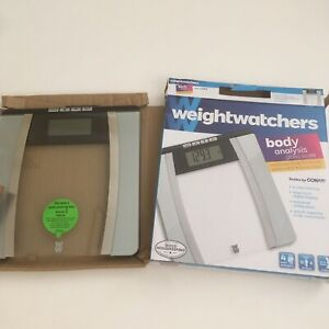 Conair Weight Watchers Body Analysis glass Scale - 400lb open box
