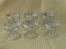Art Nouveau Sterling Silver Overlay Sherbet Cups, no Saucer (6)