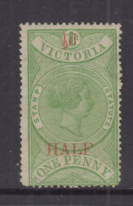 VICTORIA 1871 ½d STAMP STATUTE- Revenue -**wmk V/♚** Elsmore Cat $200++unused