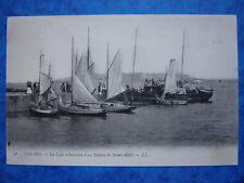 DINARD  :  La Cale à l 'Arrivée d'un Bateau de St-Malo......VO.1908.