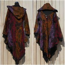 CASHMELON HOODED LONG JACKET, COAT, HIPPY, BOHO, QUIRKY, PIXIE SIZE 16, CHILL OM