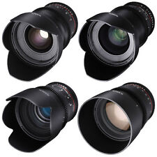 Rokinon 24, 35, 50, 85mm T1.5 Cine DS Lens Bundle for Canon EF Mount