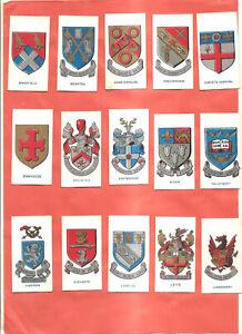Cigarette Cards. Cavanders. 25/25 School Badges. Set.
