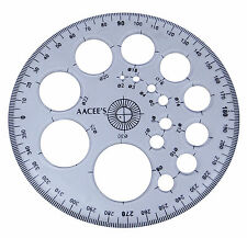 AACEE'S Transparent Plastic Pro-Circle Protractor Radius Template Drawing Ruler
