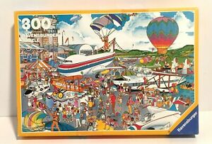 Vintage 1989 Ravensburger 300 Pc Puzzle Air Show French Clear Line Cartoon VHTF