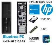 HP 8200 SFF Quad Core I5 8GB RAM 1TB HDD W10 Nvidia GT 710 Desktop Computer PC